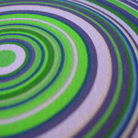 Particle Rings Blue Green 1x Limited Edition Giclee Print by Generative Artist Kristin Henry