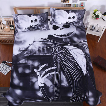 Nightmare Before Christmas Cool Bed Linen Printed Soft Twin Full Queen King Sheet Set