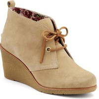 Sperry Top-Sider Harlow Wedge Bootie SandSuede, Size 8.5M  Women's Shoes