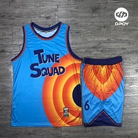 tune squad basketball jersey for men Custom basketball suits Costume Space Shirts Jam Tops Movie Tune LOLA Squad Bunny