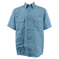 Technical Fishing Shirt in Blue by AFTCO