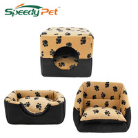Pet Dog Multi-functional House Bed Puppy Kennel Warm Doggie Sofa Cat Nest Pad Kitten Mat S/M For Small Medium Dog Pet Supplies
