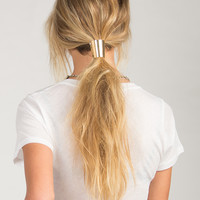 Cone Ponytail Clasp - Gold / One