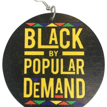 Black By Popular Demand Earrings * Afrocentric Accessories * Natural Hair Jewelry