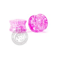 Pink Shattered Glass Plugs