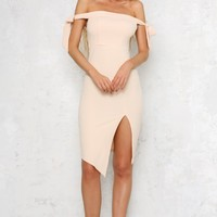 Knot In Love Midi Dress Nude