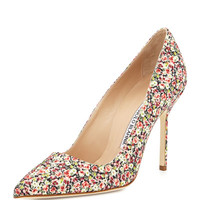 BB Fabric 105mm Pump, Rose Liberty (Made to Order)
