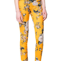 FLORAL PRINT TROUSERS - Stock clearance - Woman | ZARA United States