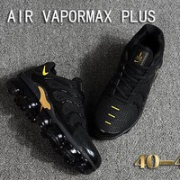 Nike Air Vapormax Plus Tn Ultra Black Gold VM Running Shoes - Best Deal Online