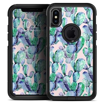 Watercolor Cactus Succulent Bloom V9 - Skin Kit for the iPhone OtterBox Cases