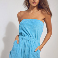 BDG Terry Strapless Romper | Urban Outfitters