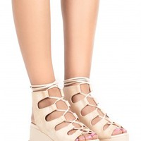 Jeffrey Campbell Shoes XIMENO in NATURAL SUEDE SILVER