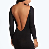 Brooke Extreme Scoop Back Bodycon Dress