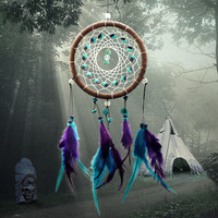 Antique Imitation Enchanted est Dreamcatcher Handma Dream Catcher Net With Feathers Wall Hanging Decoration Ornat