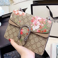 GUCCI Dionysus Women Shopping Bag Leather Flower Bag Shoulder Bag Crossbody Satchel
