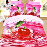 3D Quilt Set Water Pink Cherry Bedding and Quilt Covers Australia