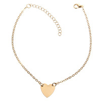 Sweet Love Heart Adjustable Chain Anklets