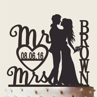 Mr and Mrs Cake Topper With Surname, Personalized Cake Topper, Personalized Cake Topper,Wedding Cake Topper, Custom Cake Topper, CT035