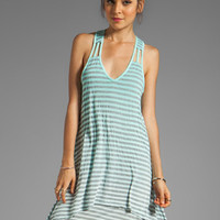 Gypsy 05 Cabarete Jersey Stripe Layered Knit Dress in Jade from REVOLVEclothing.com