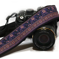 Lucky Elephants Camera Strap, Lucky Elephants, dSLR Camera Strap, SLR Camera Strap, Men, Women Accessories