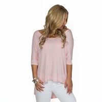 Freedom Jersey Blouse In Blush Pink