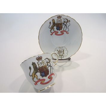 Crown Staffordshire England Coronation of Queen Elizabeth Fine Bone China Cup and Saucer