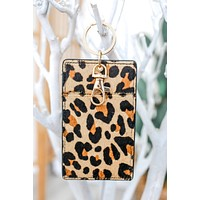 Get Going Pocket Key Chain - Leopard