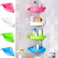 Suction Cup Corner Shelf Shower Basket Caddies Bathroom Storage Rack Home Tools