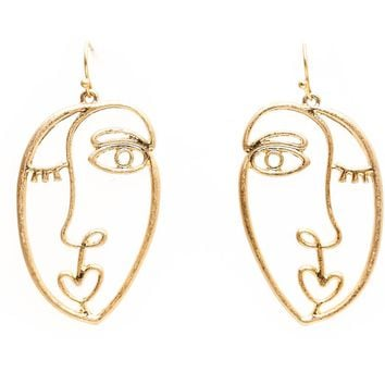 Abstract Faces Earrings