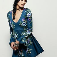 Free People Womens Date Night Fit and Flare Dress