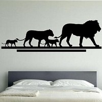 Lion Family Wall Decal Viinyl Sticker Home Decor Abstract Lion Face Cat Animals Lioness