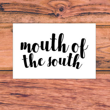 Mouth Of The South   Country Decal   Southern Sassy Car Truck Decal   Preppy South Decal   Southern Bow Decal   Southern Pride   350