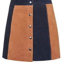 Striped Suede Skirt - Multi