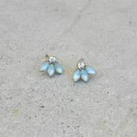 Green Thistle & Sparkle Earrings [5907] - $9.00 : Vintage Inspired Clothing & Affordable Dresses, deloom   Modern. Vintage. Crafted.