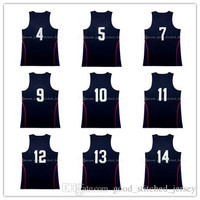 Dream team jersey Stitched Anthony 15# butler4# durant 5# Lowry 7# Irving 10# Thompson 11# george 13# Green 14 #basketball jerseys