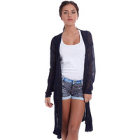 Navy Blue Jacket In Loose Knit - Q2 Store