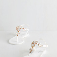 Luxe Gild Me Up Buttercup Sandal in White