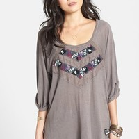Free People 'She Needs to Roam' Embroidered High/Low Top   Nordstrom