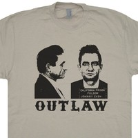 Johnny Cash Shirts Johnny Cash Mugshot T Shirt Outlaw Country Music TShirts Folsom Prison