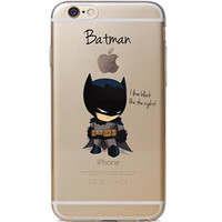 "Batman Jelly Clear Case for Apple iPhone 6/6s PLUS (5.5"")"