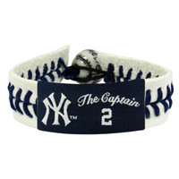 MLB New York Yankees The Captain Genuine Baseball Bracelet-Derek Jeter