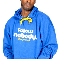 Follow Nobody Hoodie in Blue