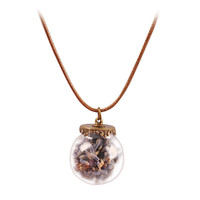 New Fashion Delicate Necklace Grass Bottom Pendant Necklace Lavender Chain Jewelry