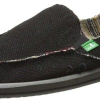 Sanuk Women's Donna Hemp Flat,Black,8 M US
