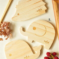 Handmade Kitchen Utensil 3 Style Elephant Dolphin Hedgehog Coasters Placemat Tray Pad Cookware SmallDeco