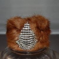 MMMM Mink Cuff Bracelet by LeslieDeanDesigns on Etsy