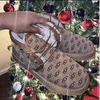 UGG new adult children fashion wool snow boots non-slip warm shoes men and women snow shoes