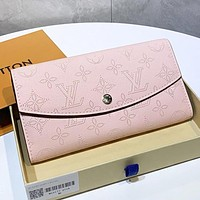 LV Louis Vuitton New fashion monogram leather wallet purse handbag Pink