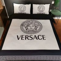 Soft Cotton VERSACE Bedding Blanket Quilt Coverlet Pillow shams 4 PC Bedding Set