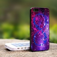 Purple Galaxy Infinity Quotes - For iPhone 5 Black Case Cover